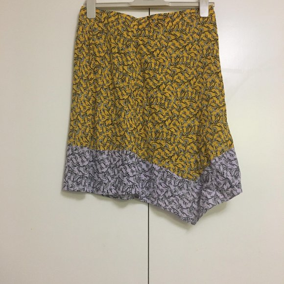 H&M Yellow & Lavender Floral Skirt